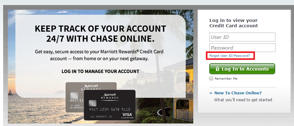 Marriott Rewards Forgot Password