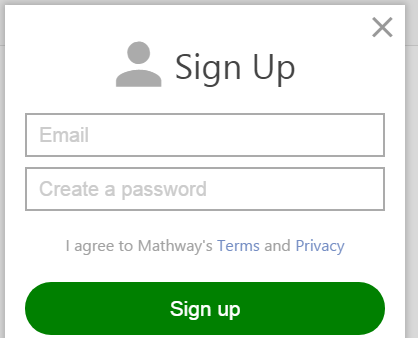 Mathway Sign Up