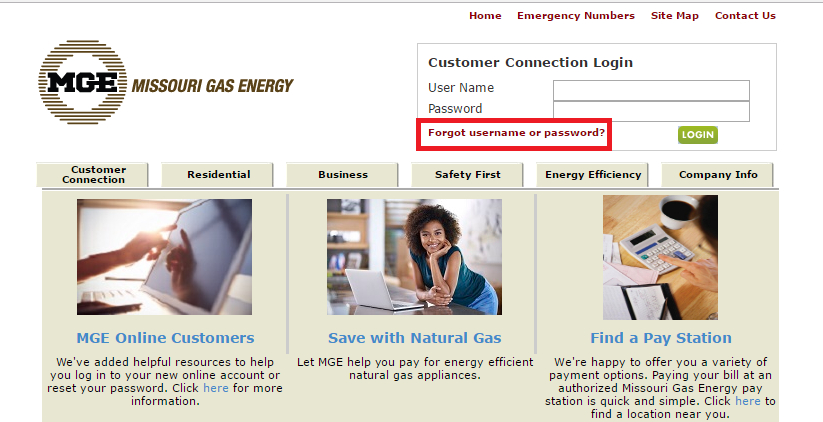 Missouri Gas Energy Forgot Password