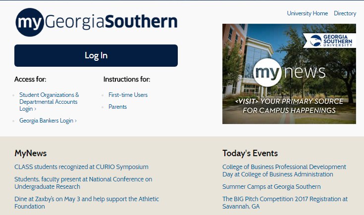 My Georgia Southern Portal Login