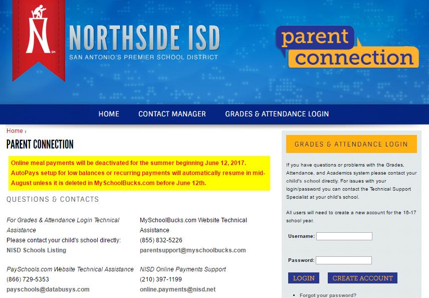 NISD Parent Connection Login