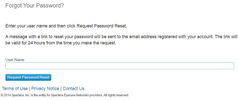 Spectera Provider Portal Forgot Password 2