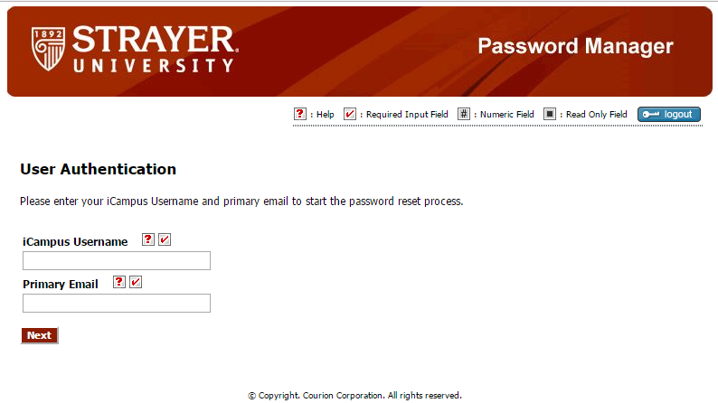Strayer iCampus Forgot Password 2