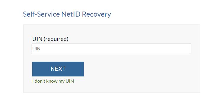 UIC Blackboard Net ID Recovery