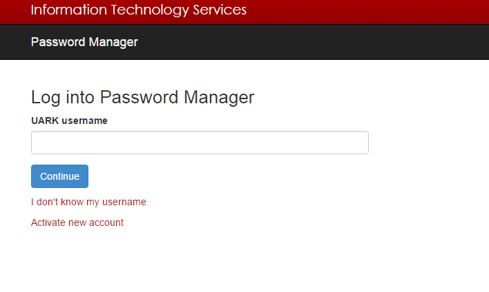 University of Arkansas Forgot Password 2