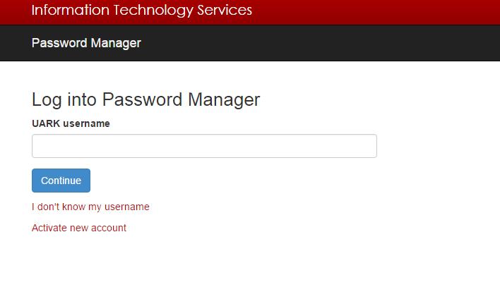 University of Arkansas Forgot Password 2