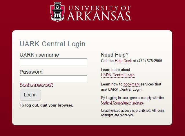 University of Arkansas Gmail Login