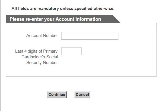 Menards Credit Card Forgot Password