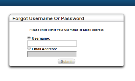 NPENN HAC Forgot Password