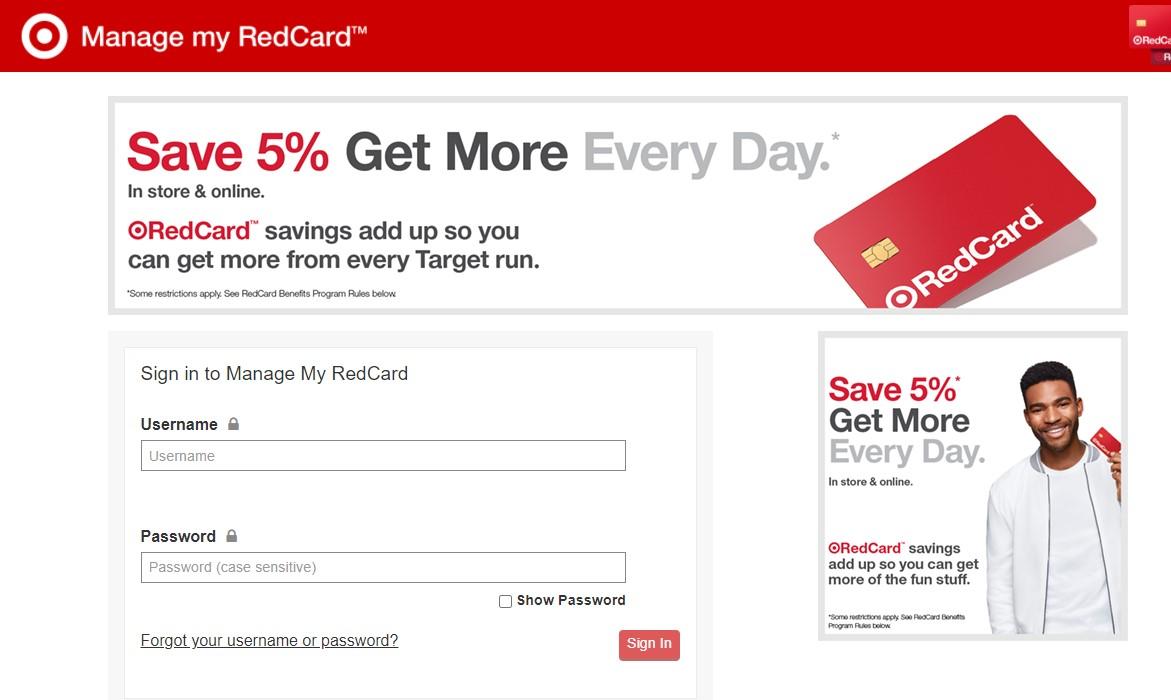 Target REDcard Login