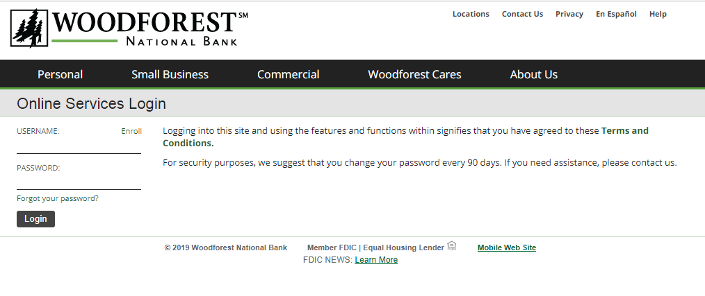 www.woodforest.com – Woodforest Login to Online Banking