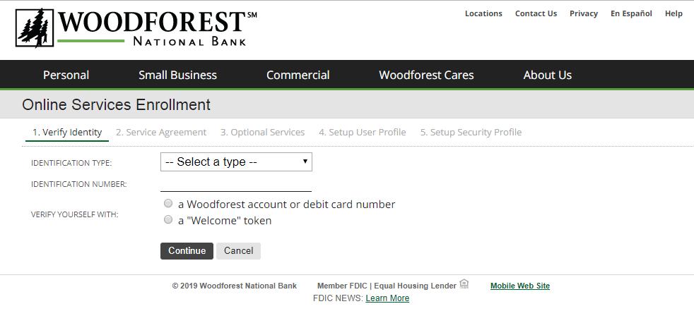 woodforest Online Banking Enroll
