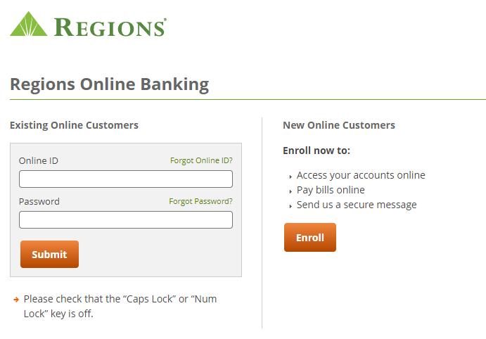 Regions Bank Online Banking Login – login.regions.com