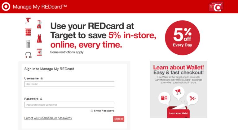 Targetredcard.com – Target Red card Login | rcam.target.com payment
